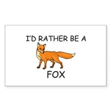 I'd Rather Be A Fox Rectangle Decal