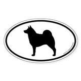 Norwegian Elkhound Oval Sticker (10 pk)