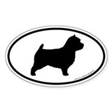 Norwich Terrier Oval Sticker (50 pk)