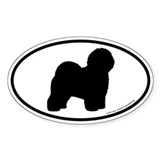 Old English Sheepdog Oval Sticker (50 pk)