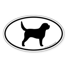 Otterhound Oval Sticker (10 pk)