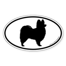 Papillon Oval Sticker (10 pk)