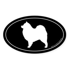 Samoyed Oval Sticker (10 pk)