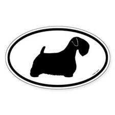 Sealyham Terrier Oval Sticker (10 pk)