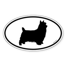Silky Terrier Oval Sticker (50 pk)