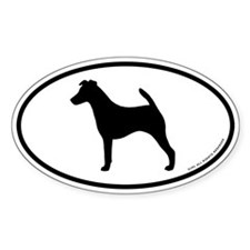 Smooth Fox Terrier Oval Sticker (10 pk)