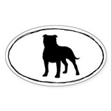 Staffordshire Bull Terrier Oval Sticker (10 pk)