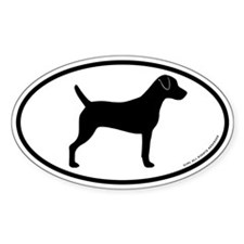 Parson Russell Terrier Oval Sticker (50 pk)