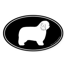 Polish Lowland Sheepdog Oval Sticker (50 pk)