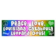 Hippie Catahoula Leopard Dog Bumper Bumper Sticker