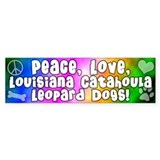 Hippie Catahoula Leopard Dog Bumper Car Sticker