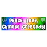 Hippie Chinese Crested Bumper Bumper Sticker