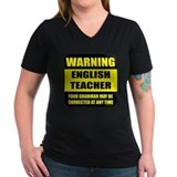 Warning english teacher sign Shirt