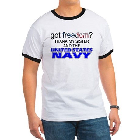 Got Freedom? Navy (Sister) Ringer T