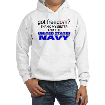 Got Freedom? Navy (Sister) Hooded Sweatshirt