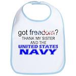 Got Freedom? Navy (Sister) Bib