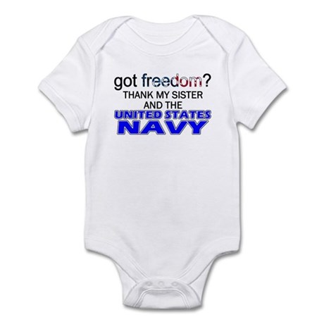 Got Freedom? Navy (Sister) Infant Creeper