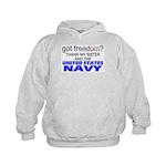 Got Freedom? Navy (Sister) Kids Hoodie