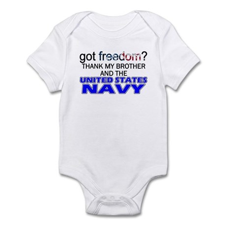 Got Freedom? NAVY (Brother) Infant Creeper