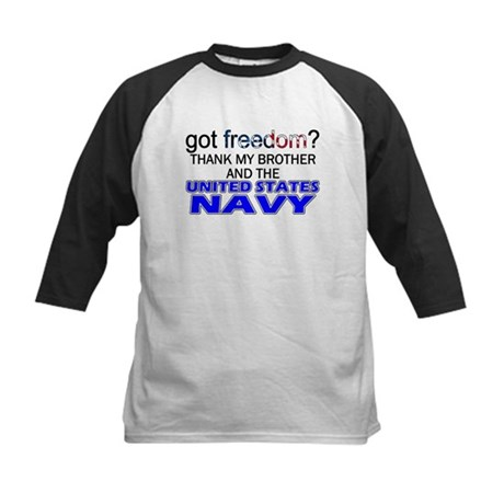 Got Freedom? NAVY (Brother) Kids Baseball Jersey
