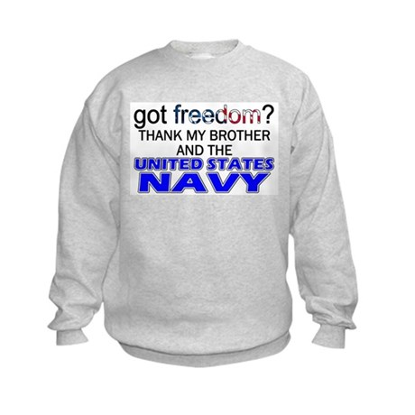 Got Freedom? NAVY (Brother) Kids Sweatshirt