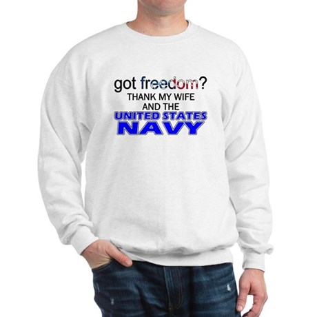 Got Freedom? Navy (Wife) Sweatshirt
