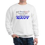 Got Freedom? Navy (Wife) Sweatshirt