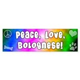 Hippie Bolognese Bumper Car Sticker