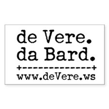 de Vere da Bard Rectangle Decal