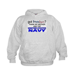 Got Freedom? Navy (Mother) Kids Hoodie