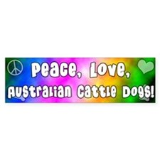 Hippie Australian Cattle Dog Bumper Bumper Sticker
