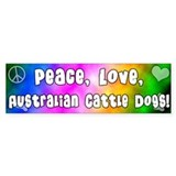 Hippie Australian Cattle Dog Bumper Bumper Stickers