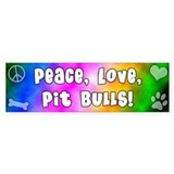 Hippie Pit Bull Bumper Car Sticker