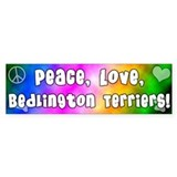 Hippie Bedlington Terrier Bumper Bumper Sticker