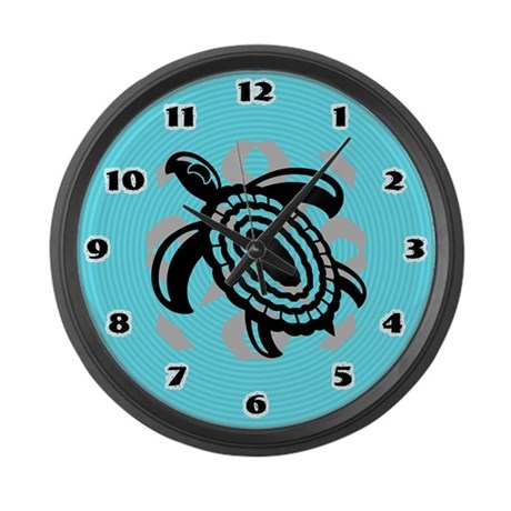 Cut Out Turtle Large Wall Clock