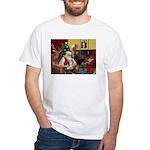 Santa's Lhasa Apso White T-Shirt