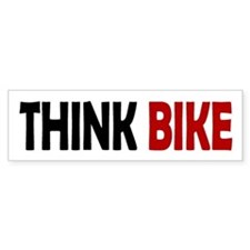 Think Bike Bumper Bumper Sticker
