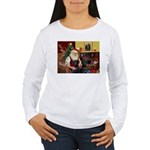 Santa's 2 Black Labs Women's Long Sleeve T-Shirt