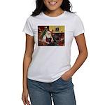 Santa's 2 Black Labs Women's T-Shirt