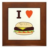 I Love Cheeseburgers Framed Tile