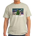 Xmas Magic & Yelow Lab Light T-Shirt