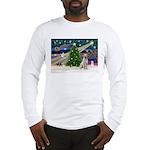Xmas Magic & Yelow Lab Long Sleeve T-Shirt