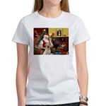 Santa's Yellow Lab #7 Women's T-Shirt
