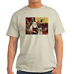 Santa's 2 Labs (Y+B) Light T-Shirt