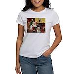 Santa's 2 Labs (Y+B) Women's T-Shirt