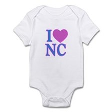 I Love NC Infant Bodysuit
