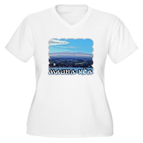 Mauna Kea Women's Plus Size V-Neck T-Shirt