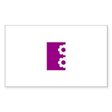 Letter E Rectangle Sticker 10 pk)