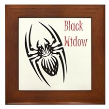 Black Widow Framed Tile