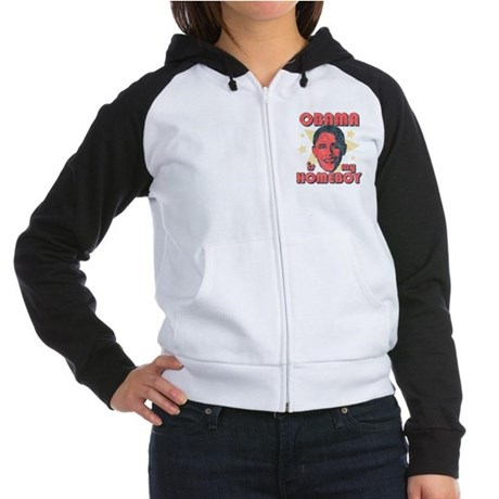 Obama is my Homeboy Womens Raglan Hoodie
